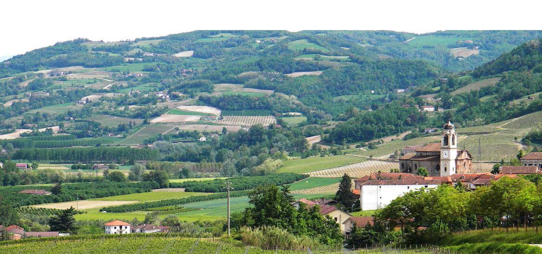 Bubbio vista panoramica dall'Azienda Torelli