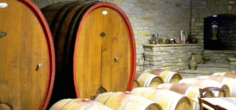 Sala degustazione vini Torelli a Bubbio