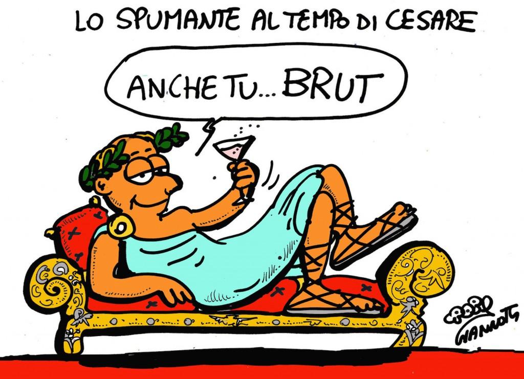 Vignetta di Roby Giannotti sul Brut
